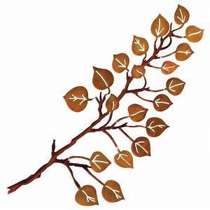 3 d aspen leaves wall hanging for Kitchen cabinets lowes with metal tree branch wall art