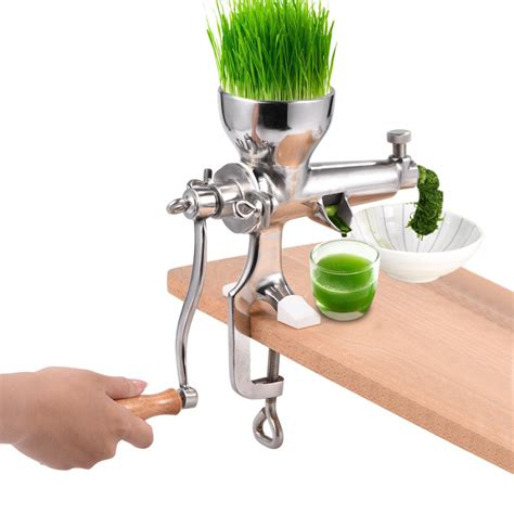 juicer hand extractor wheatgrass stainless grass steel wheat juice manual health tool kitchen restaurant grade amazon juicers food commercial garden