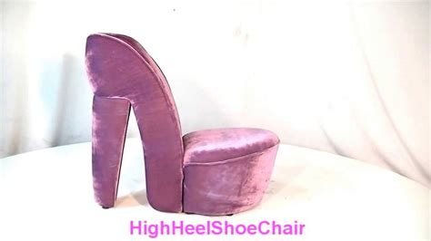high heel chair cheap child size purple lavender high heel shoe chair