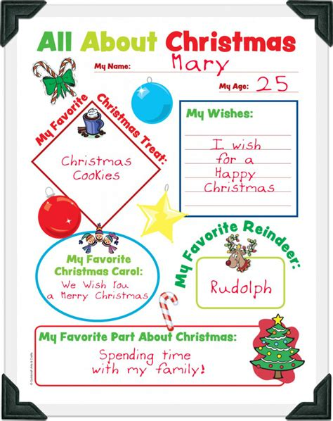 Free Christmas Worksheets All About Christmas Free