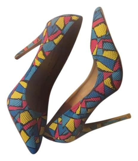 colored pumps shoe republic la blue multi colored pumps pumps