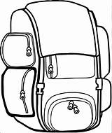 Backpack Coloring Bag Clipart Pages Camping Destiny Printable Sheet Getcolorings Clipartmag Wecoloringpage Surprise sketch template