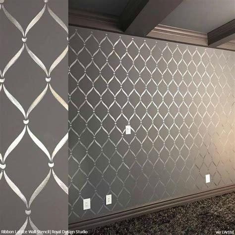stencil designs for walls ribbon lattice wall stencils for decorating home decor