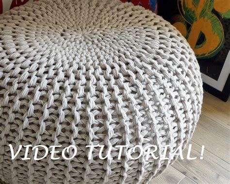 knitted ottomans knitting pattern knitted pouf pattern poof knitting ottoman