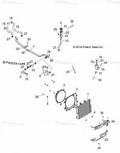 Polaris Atv 2015 Oem Parts Diagram For Engine  Cooling