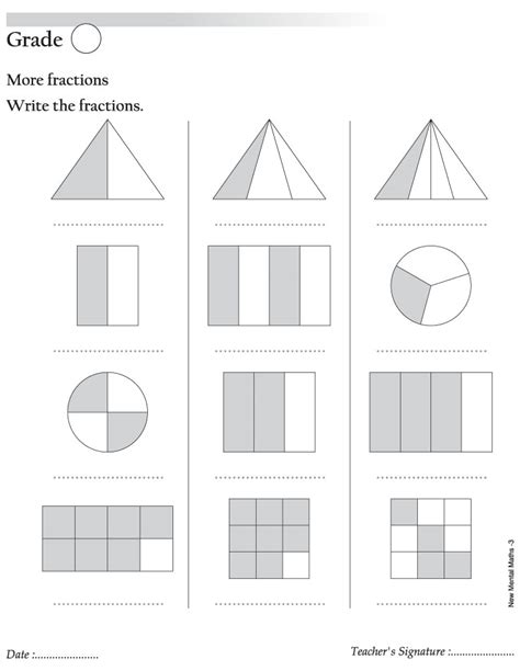 Naming Fractions Worksheet  Fractions Worksheets Printable For Teachers1000 Images About Teach
