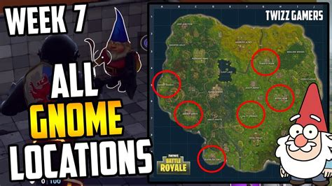 All 7 Gnome Locations Fortnite Search The Hidden Gnome In