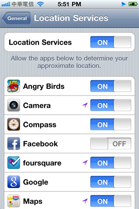 location services on iphone error message when check in on on iphone