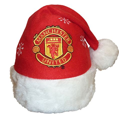 man utd christmas hat no background