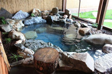 japanese garden spa natural hot tub