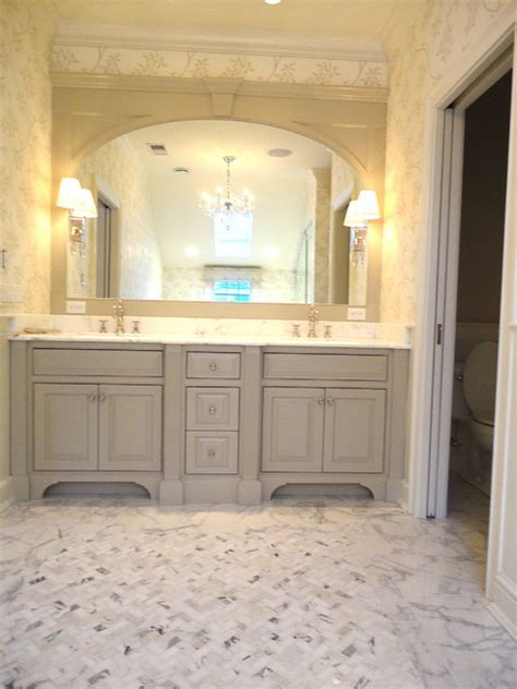calacatta master bath traditional bathroom  york