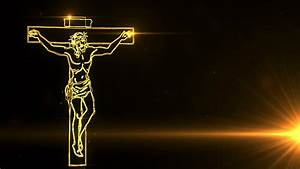 Jesus Christ on Cross being drawn with lights Motion ...