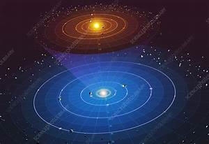 Solar System  3d Diagram - Stock Image  0303
