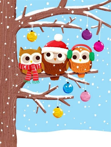 christmas owls owls pinterest christmas and owl