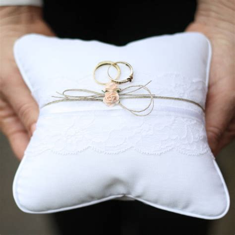 lace and twine ring cushion by the wedding of my dreams notonthehighstreet com