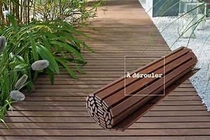 Decoration Terrasse En Bois : terrasse en bois d rouler jardin deco exterieur pinterest terrasse terrasse bois et ~ Melissatoandfro.com Idées de Décoration
