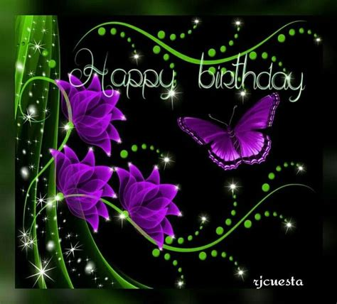 Purple Butterflies Birthday  Happy Birthday To You