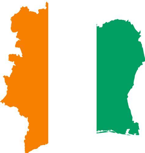 La Cote Divoire C 244 Te D Ivoire Drapeau Carte 183 Images Vectorielles