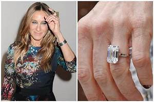 25 unforgettable celebrity engagement rings racked With sarah jessica parker wedding ring