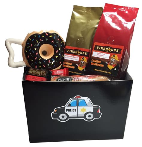 Police Officer Gift Basket   Cop Gift Basket   Gift for a Police Officer   Firehouse Coffee Company