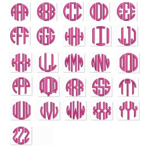 letter satin circle monogram machine embroidery small satin font