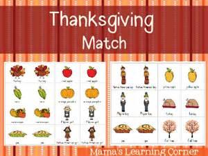 thanksgiving match mamas learning corner