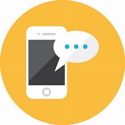 Icon Smartphone Message Icons Web Business Webalys