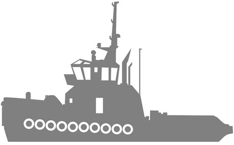 Tugboat Outline by Tugboat Silhouette Free Vector Silhouettes
