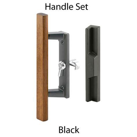 handle set sliding patio door lock black