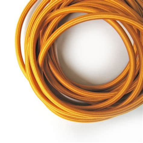 fabric covered l wire wire by meter mustard color fabric cloth covered wire