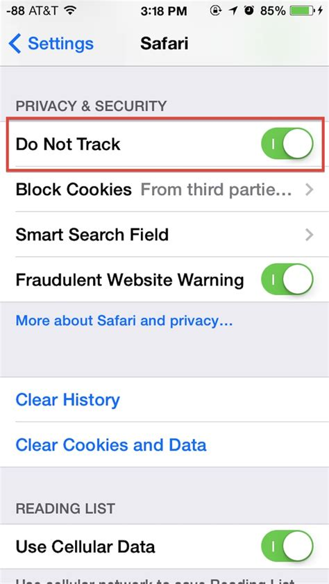 what does do not track on iphone how to enable do not track in safari on iphone