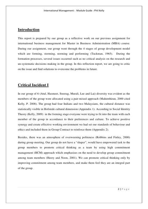 reflection report dyson case study