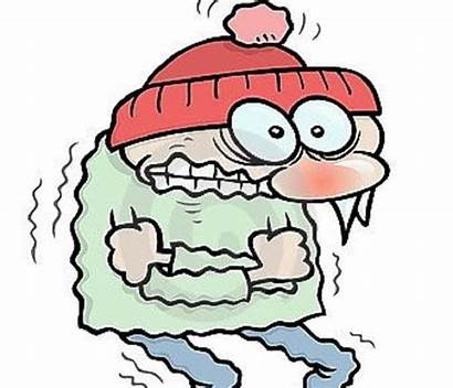 Cold Shivering Winter Clipart Outside Cartoon Person