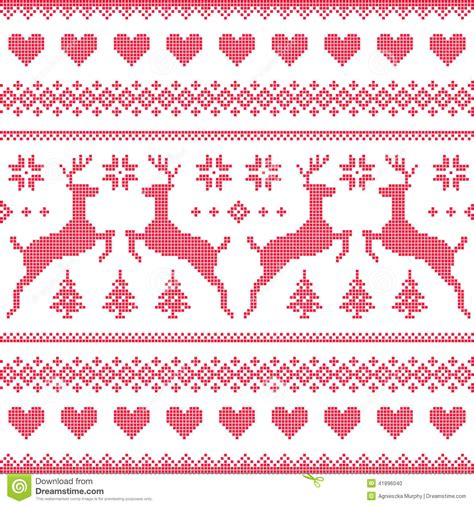 winter christmas red seamless pixelated pattern  deer