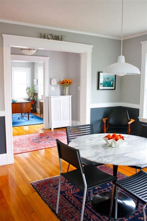 Two Tone Gray Walls With Chair Rail by 17 Best Images About Two Tone Room Colors On