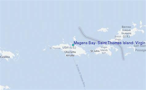Magens Bay Saint Thomas Island Virgin Islands Tide