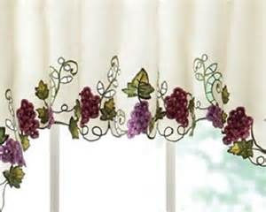 tuscan decor grapevine and grapes kitchen cafe curtains 3