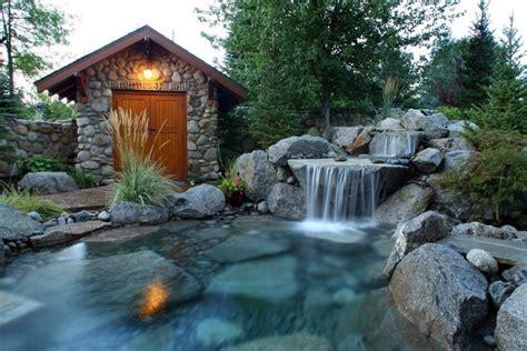 garten wasserfall selber bauen eine oase im garten gestalten wasserfall ideen