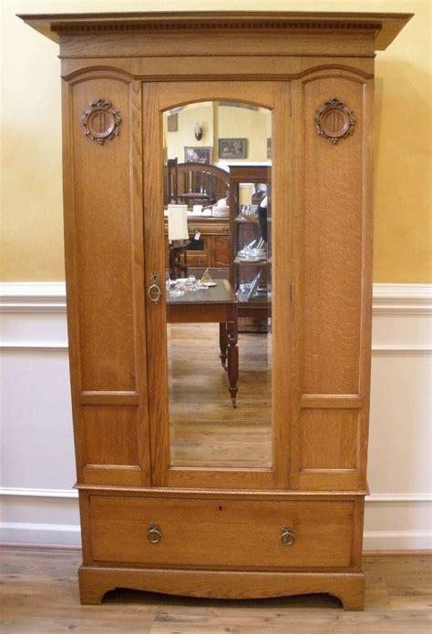 Oak Bedroom Armoire by Mirrored Wardrobe Armoire Antique Oak