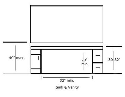 Bathroom Makeup Vanity Dimensions by Handicap Sinks And Vanities Selection And Installation Tips