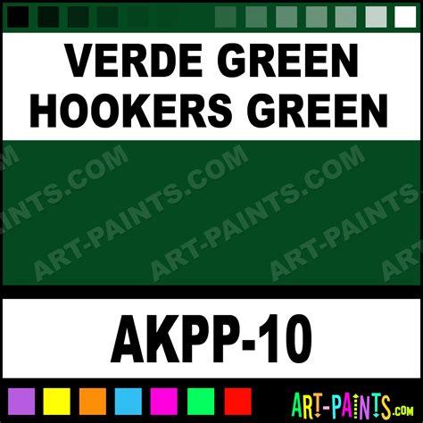 verde green hookers green opaque watercolor paints akpp 10 verde green hookers green paint