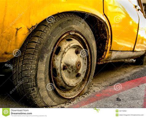 Flat Tire Stock Photo. Image Of Vehicle, Tire, Breakdown