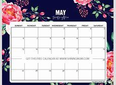 12 Free Printable May 2018 Calendar Planners!