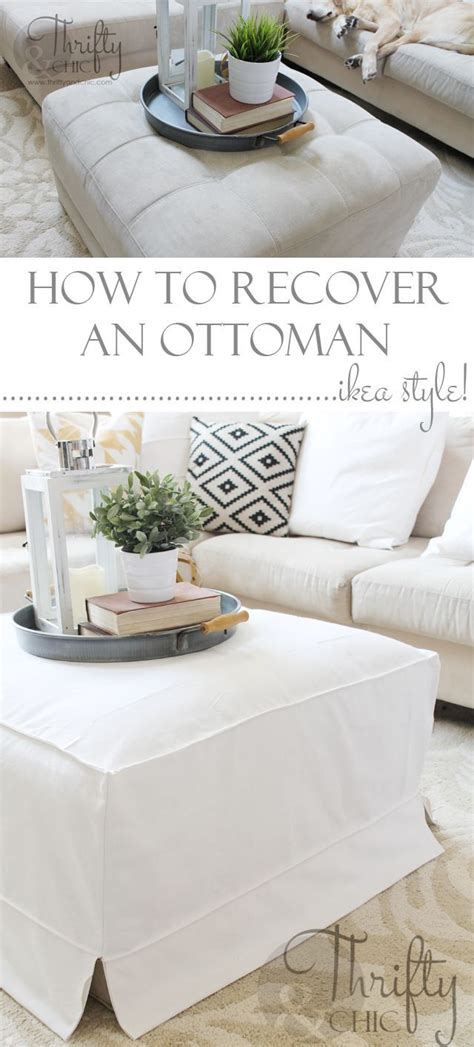 slipcover for ottoman how to make 1000 ideas about ottoman slipcover on