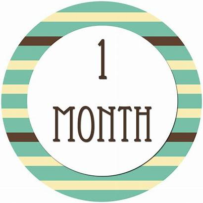 Month Stickers Clipart Months Diy Clip Server
