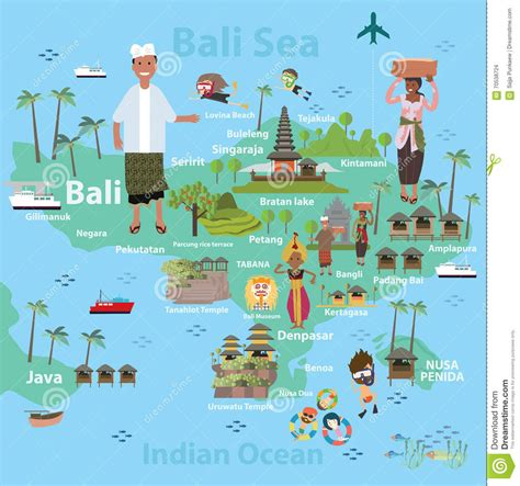 Carte Du Monde Voir Bali by Bali Indonesia Map And Travel Stock Vector Image 70538724