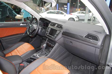 volkswagen tiguan 2016 interior 2016 vw tiguan interior at the auto expo 2016 indian