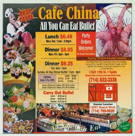 Caf China Menu Tustin Dineries