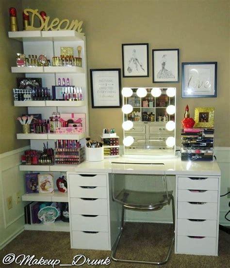 muebles organizadores de maquillaje  como organizar