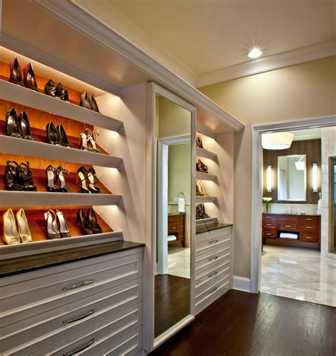 white length wall mirror master suite closet